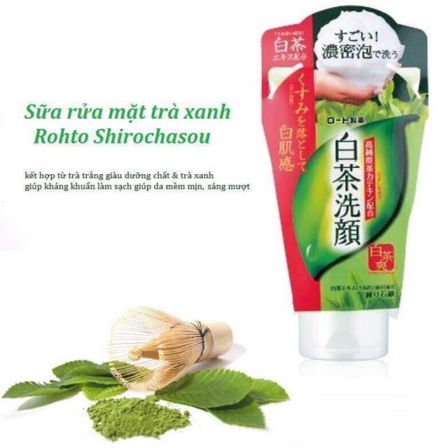 Sữa rửa mặt trà xanh Rohto Shirochasou – 120g