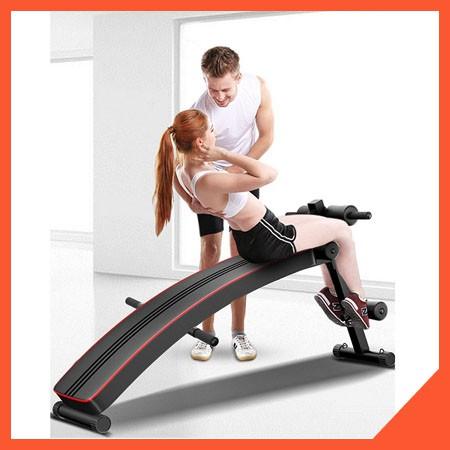 Ghế tập - gập cơ bụng đa năng phòng gym dáng cong tập thể dục, lưng, bụng