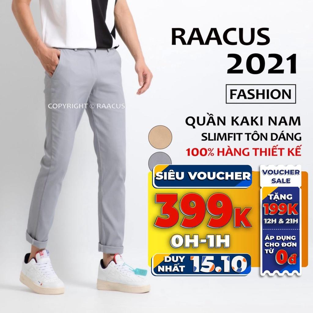 Quần dài nam kaki ống suông unisex đẹp RAACUSSTORE, quần baggy nam kaki dáng slimfit ulzzang-Q211