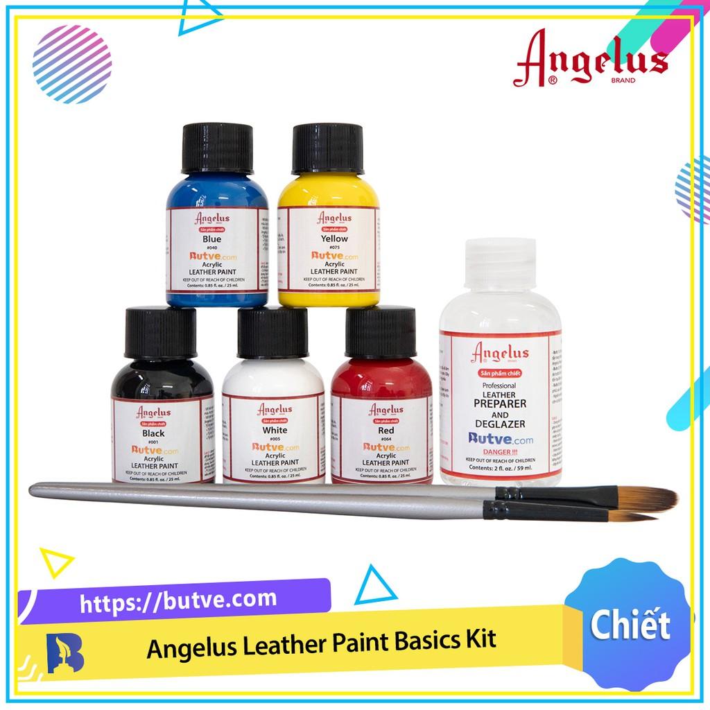 Combo bộ Angelus Leather Paint Basics Kit cơ bản dùng để custom