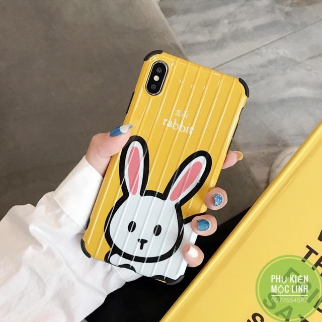 [ iphone 6 đến xs max ] ốp vali silicon mềm thỏ rabbit
