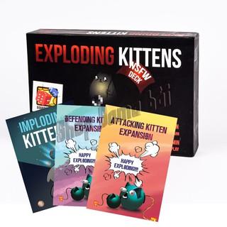 Combo Exploding Kittens Mèo nổ 18+ và 3 Bản mở rộng