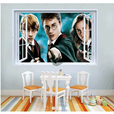 Decal cửa sổ 3D Herry Potter