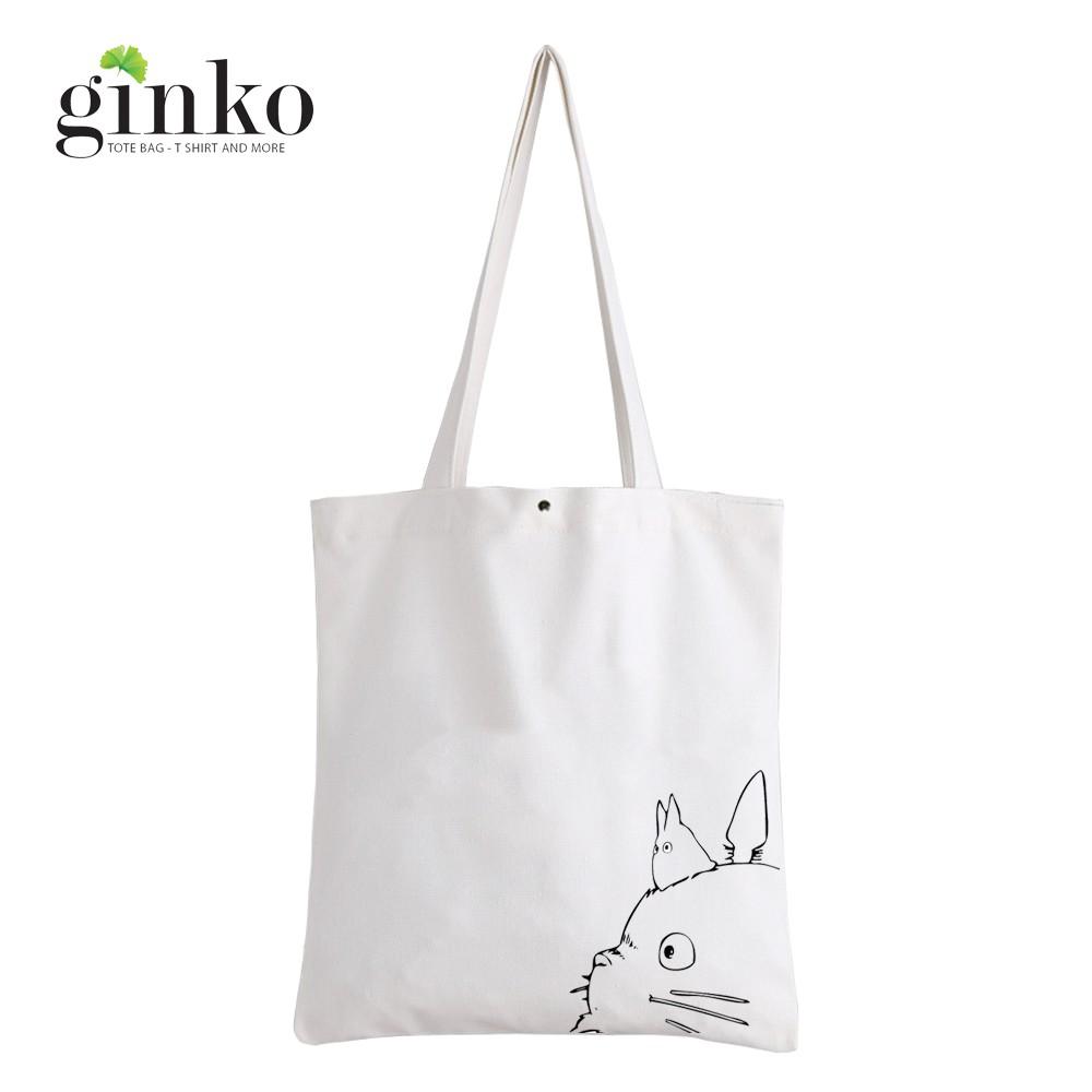 Túi Vải GINKO Kiểu Basic In Hình Totoro