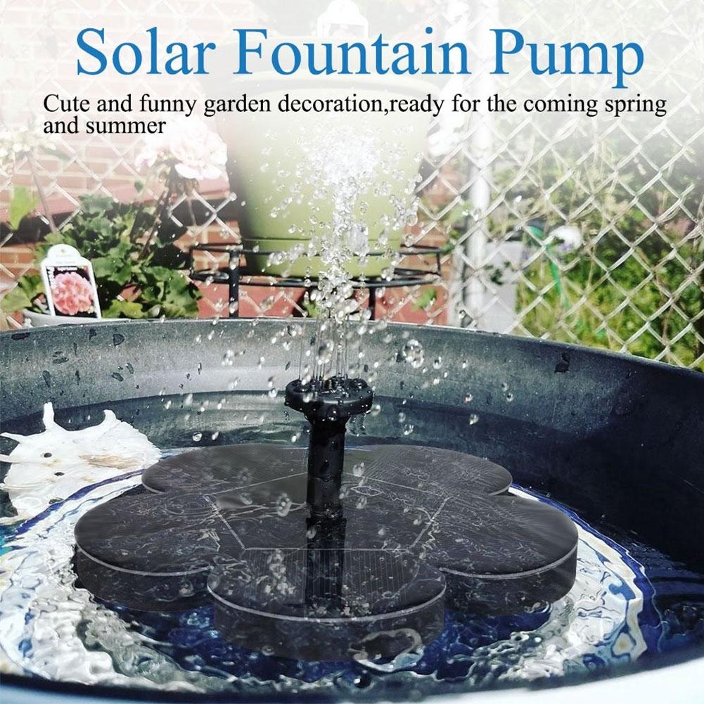 Patio Decoration Solar Powered Garden Multifunction Plum Shape Water Float Outdoor Fountain Pump