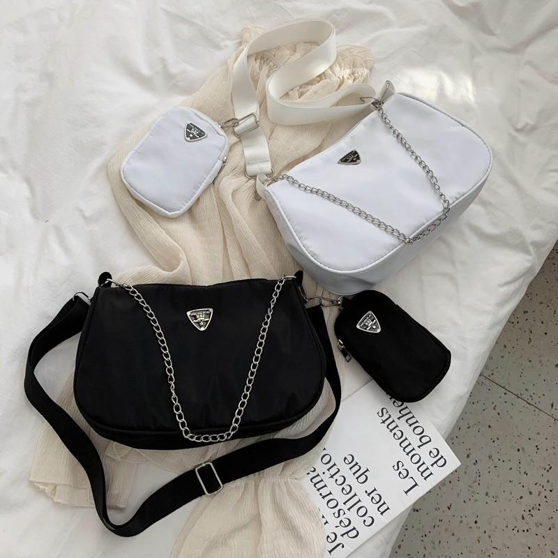 Túi vải phong cách boho 2 dây hàng rẻ S011 (Ảnh thật cuối)