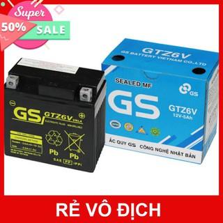 Ắc Quy GS GTZ6V (12V-5Ah) - Miễn 70k phí vận chuyển xa - Binh ac quy kho xe may 12v cho xe tay ga Honda, Yamaha... thumbnail