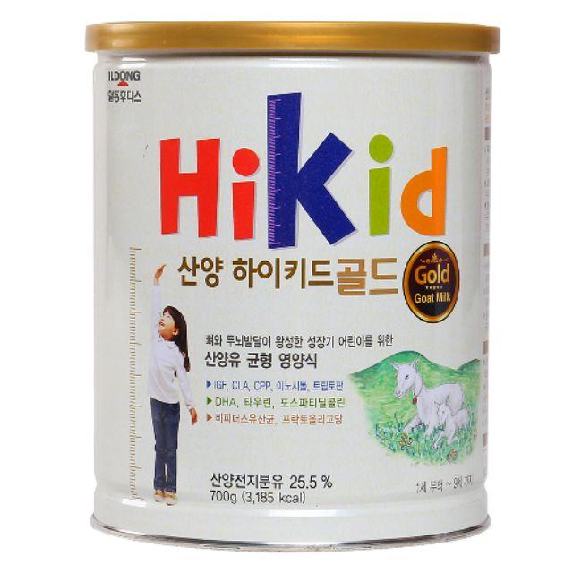 Sữa bột Hikid dê 700g