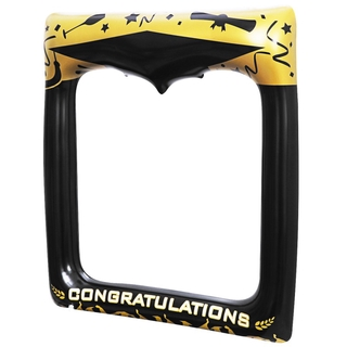 Amosfun 1PC Inflatable Picture Frame Blow Photo Booth Props Graduation Decoration Accessory for Graduation Party Wedding Party 72 x 61cm