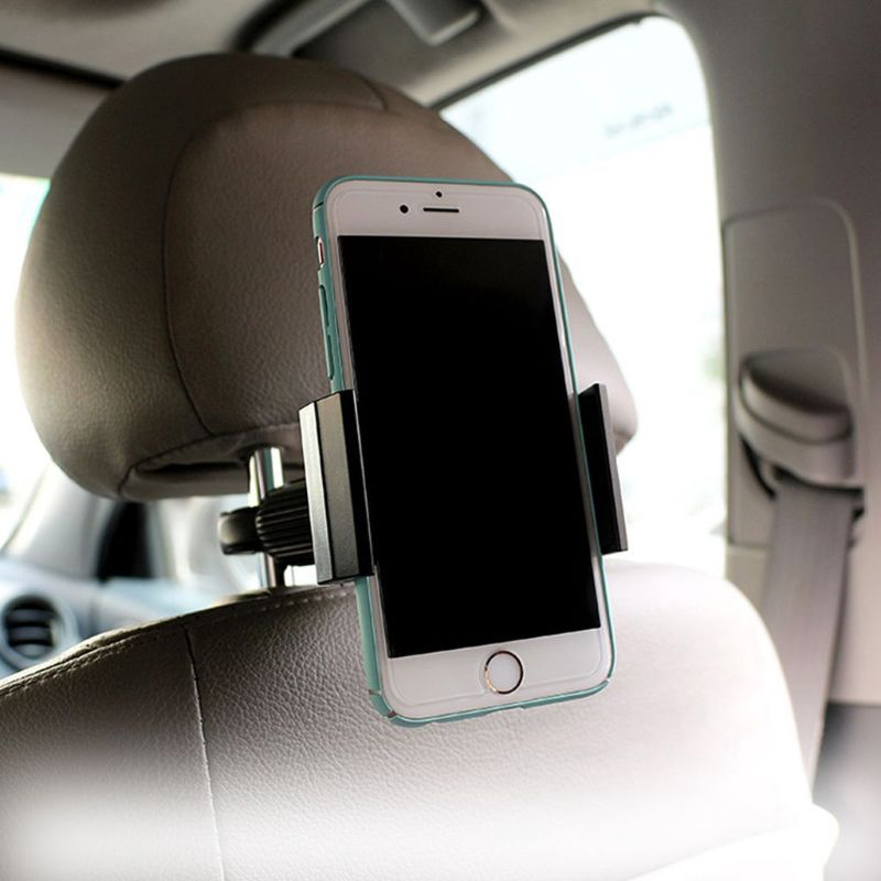 Universal Car Headrest Mount Car Back Seat Phone Holder Bike Music Mic Pole Cradle for Smart Phone