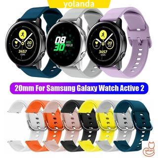 AMAZFIT Dây Đeo Bằng Silicone Cho Đồng Hồ Thông Minh Samsung Galaxy Active 2 42mm 20mm