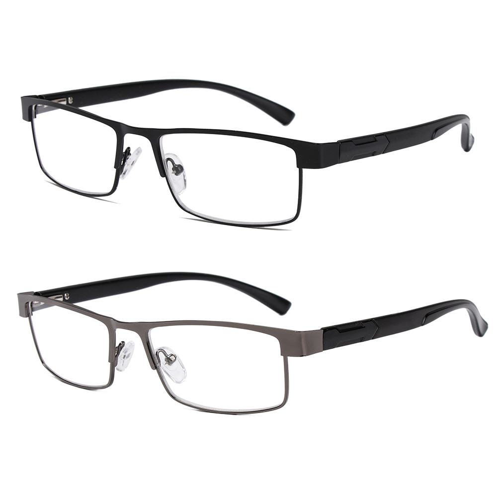💜ZAIJIE💜 Men Eyeglasses Magnifying Vision Care Business Reading Glasses Flexible Portable New Fashion Ultra Light Resin Metal Titanium Alloy Eye...