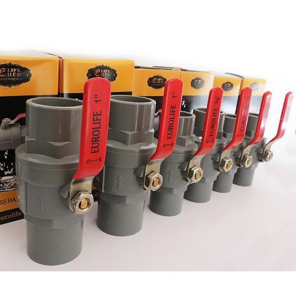 Bộ 6 van tay Inox Eurolife 21 - 27 -34mm ( Mỗi size 2 cái )
