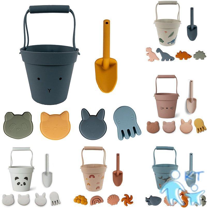 Bộ đồ chơi xúc cát bằng silicone cho bé