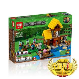(có sẵn) bộ đồ chơi lắp ráp Lego Minecraft 21144 Lepin 18039 Farm Cottage Nông Trang vui vẻ bela 10813