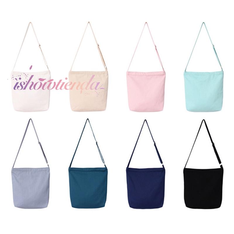 ishow Ready stock Canvas shoulder messenger bag
