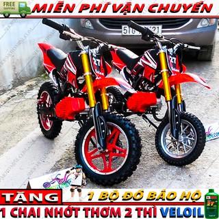 Cào cào mini trẻ em 50cc ( Bánh Lớn ) | Moto ruoi 49cc gắn máy phát cỏ chạy đông cơ xăng pha nhớt 2 thì