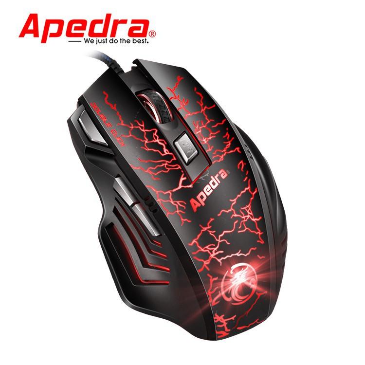 Mouse Gaming APEDRA A7 Dây dù - Led 7 màu