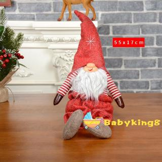 ☽&✰Santa Claus Cartoon Faceless with Lots of Moustache and A Big Nose Cute Dolls