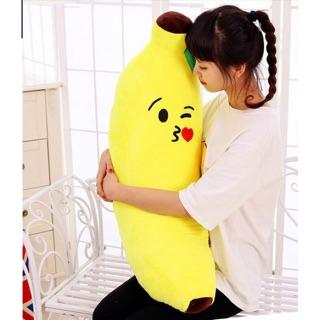 FREESHIP 50K-Gối ôm hình trái cây-Gối ôm hình chuối size 100cm bông PP và vải nhung mịn Hàn Quốc thumbnail
