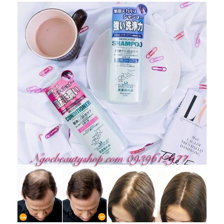 Bộ đôi dầu gội & dầu xả kích thích mọc tóc Kaminomoto Medicated B&P - 2637127 , 216984581 , 322_216984581 , 230000 , Bo-doi-dau-goi-dau-xa-kich-thich-moc-toc-Kaminomoto-Medicated-BP-322_216984581 , shopee.vn , Bộ đôi dầu gội & dầu xả kích thích mọc tóc Kaminomoto Medicated B&P