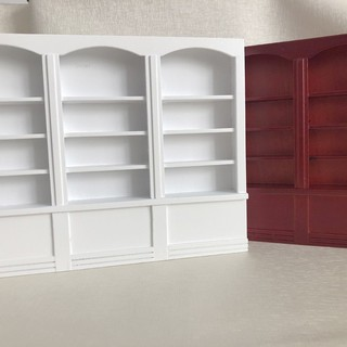 SuneiMiniature Display Bookcase Bookshelf Cabinet For 1:12 Dollhouse Furniture