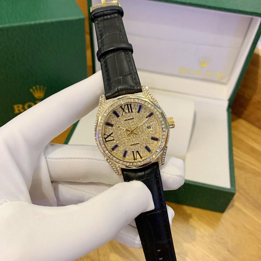 [Full box cao cấp] Đồng hồ nam Rol bản full diamonds cao cấp - tặng hộp như ảnh - bảo hành 12 tháng donghovip