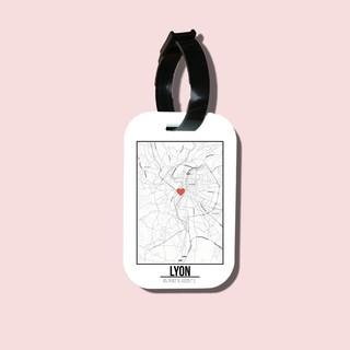Travel tag cho túi xách balo du lịch in hình Love City - Lyon thumbnail