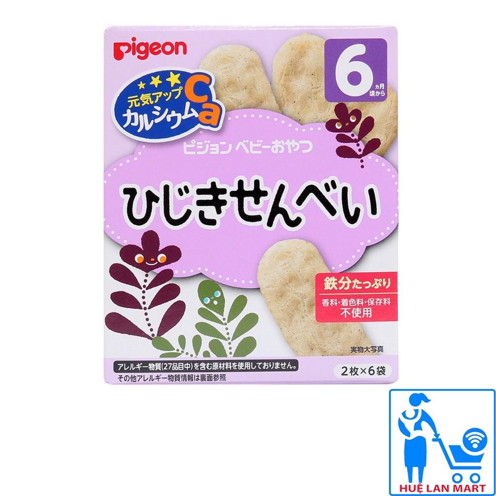 Bánh Ăn Dặm Pigeon 6M Hương Vị Rong Biển Hộp 12g