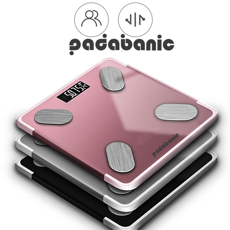 [ Bền Bỉ ] Cân Điện Tử Thông Minh Kết Nối Bluetooth Kết Hợp Phân Tích Chỉ Số Cơ Thể Thay Pin AAA