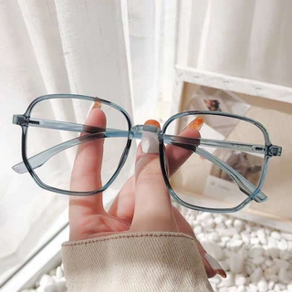 Glasses Myopia Women's Degree Compatible Face without Makeup Glasses Frame Net Red Plain Glasses Men's Korean-Style Fashion Big Frame Slimming Eyes MB9u