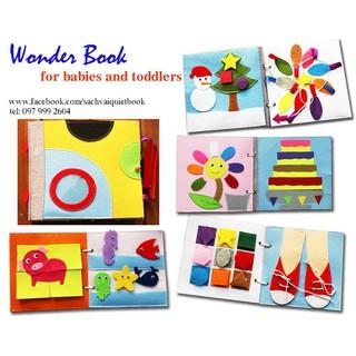 Sách vải cho bé 0-6 tuổi học và chơi