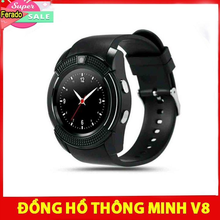 Đồng Hồ Thông Minh SMARTWATCH V8 - Cảm Ứng, Gắn Sim Và Thẻ Nhớ - Hỗ Trợ Tiếng Việt