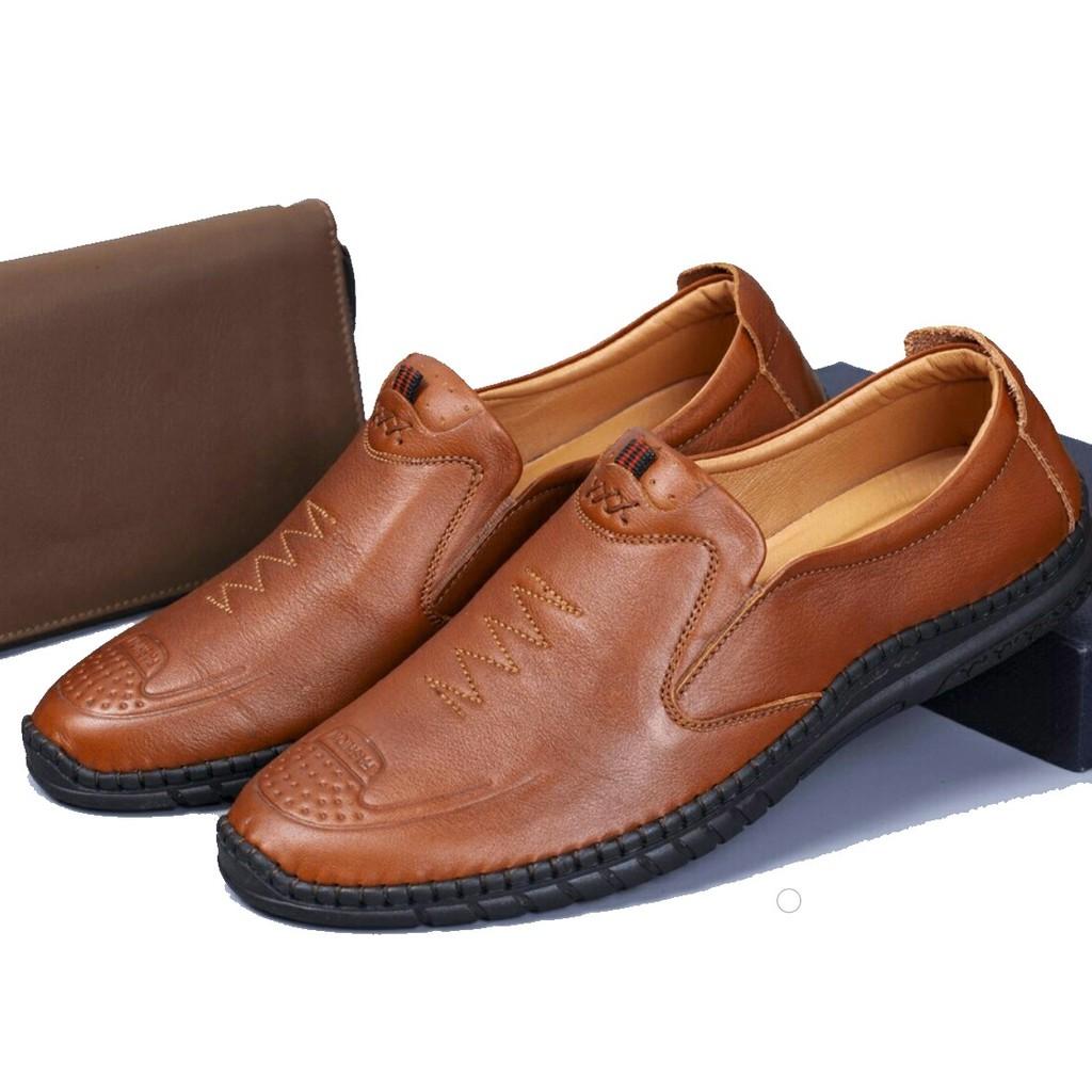 Giày lười da bò sản phẩm bảo hành 12 tháng