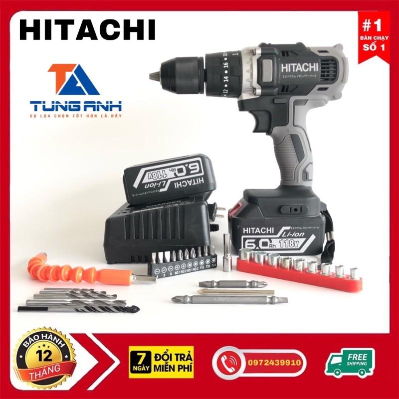 Khoan Pin 3 Chức Năng Hitachi 118V Kèm Phụ Kiện 29 Chi Tiết.