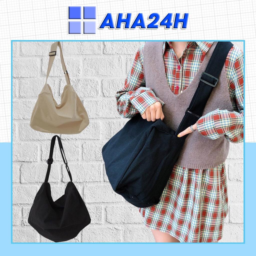 [Mã FAMAYWA2 giảm 10K đơn 50K] Túi tote đeo chéo vải bố CANVAS đựng đồ thời trang loại lớn AH1476-6D8