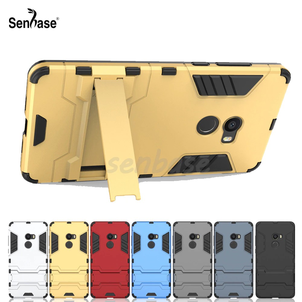 For Xiaomi Mi Mix 2 Case PC + TPU Combo Armor Shockproof Stand Cover Cases