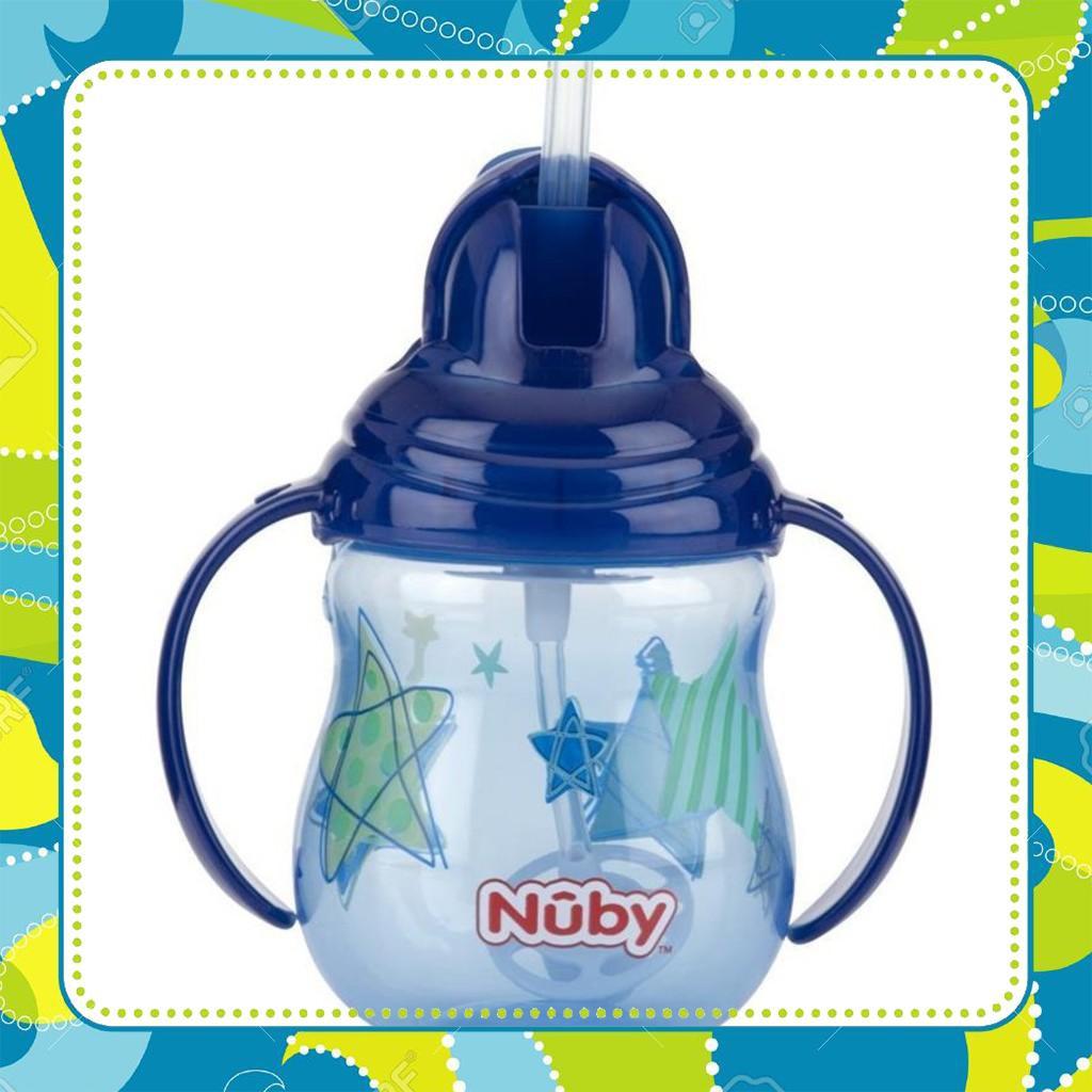 [Sieu-Re] Bình uống nước ống hút Silicone Nuby 360 độ 2 tay cầm 270ml