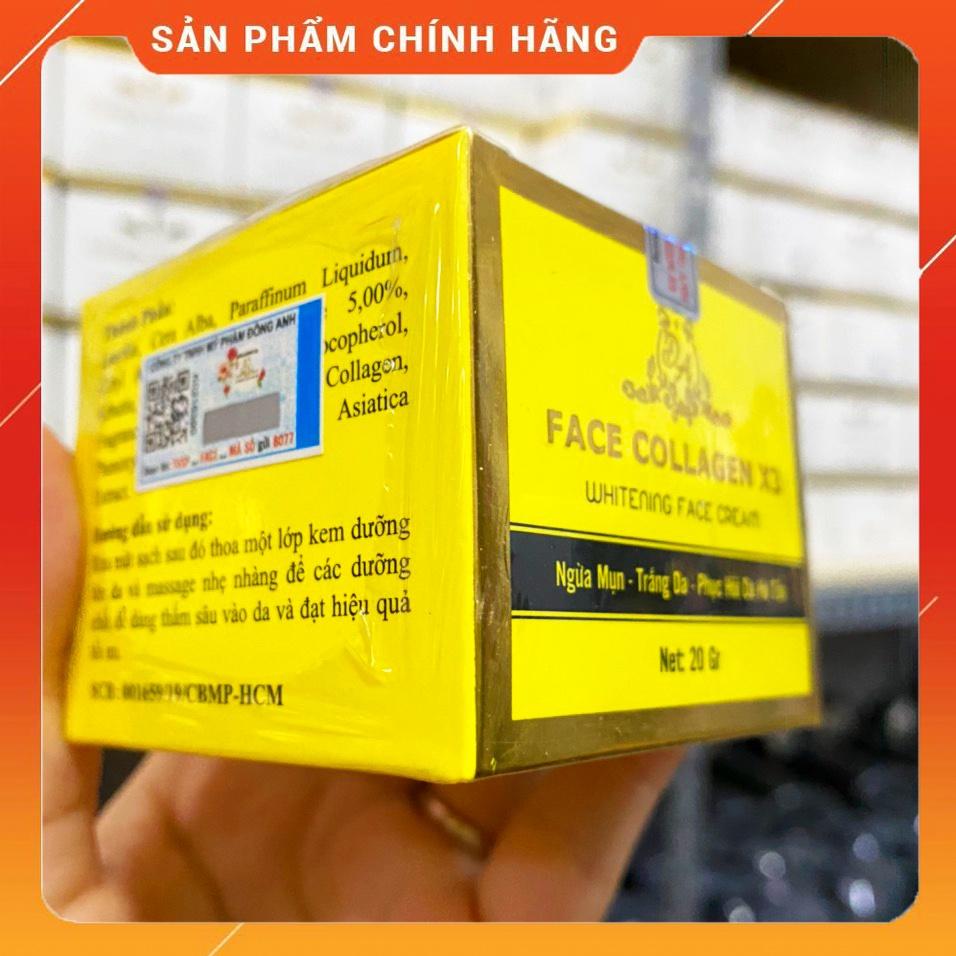 [Chính hãng] Combo Kem face Collagen X3 Luxury + Serum căng bóng da + Kem chống nắng + Mặt nạ Mỹ phẩm Đông Anh