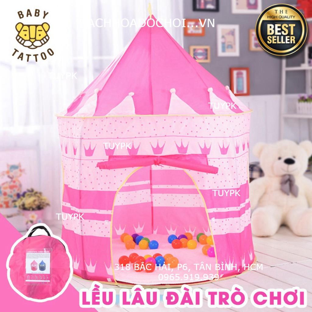LOẠI 1- Đồ chơi Lều lâu đài Hoàng Tử Công Chúa cho trẻ em, đồ chơi bé gái, trai quà...