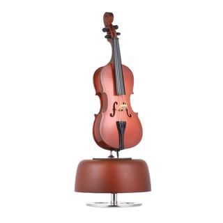 Cổ điển Gió Lên Cello Music Box với Xoay Nhạc Cơ Sở Cụ Miniature Replica Artware Quà Tặng