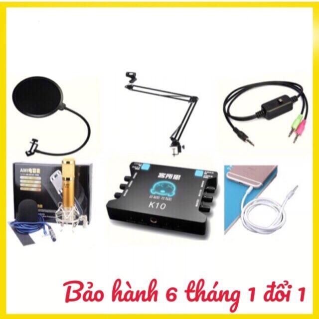 Combo bộ mic livestream hát karaoke AMI BM900,sound card XOX k10 dây ma2 chân màng lọc âm - 2719341 , 396217641 , 322_396217641 , 1200000 , Combo-bo-mic-livestream-hat-karaoke-AMI-BM900sound-card-XOX-k10-day-ma2-chan-mang-loc-am-322_396217641 , shopee.vn , Combo bộ mic livestream hát karaoke AMI BM900,sound card XOX k10 dây ma2 chân màng lọ