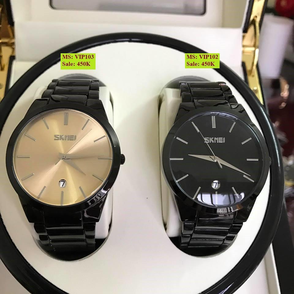 Đồng hồ nam SKMEI khung thép đen lịch lãm sang trọng mẫu hot 2019