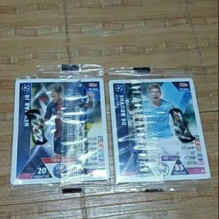 Thẻ Poca (Combo 2 thẻ) (thẻ neymar bị nát một ít,và rách 1 góc seal)