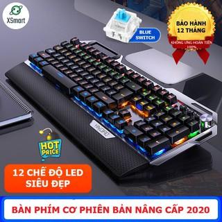 Bàn phím CƠ Gaming TK100 LED nhiều chế độ, có kê tay, blue switch gõ cực đã chơi game cho máy tính, laptop, pc