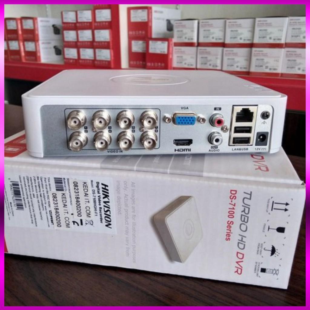 🍀 Đầu ghi hình 8 kênh Turbo HD 4.0 Hikvision DS-7108HQHI-K1 - Hàng chính hãng 100%.