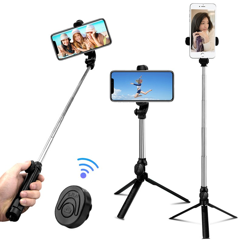 Gậy selfie XT10 kết nối bluetooth có thể làm chân đế kèm điều khiển từ xa    Shopee Việt Nam