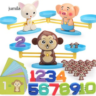 JL_Cute Cartoon Animal Balance Scale Math Game Learning Children Educational Toy