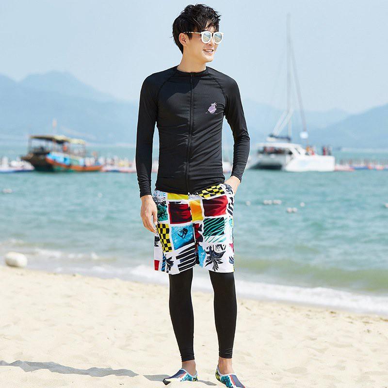 Bộ bơi nam dài tay thời trang Áo bơi Quần bơi dài Quần bơi đùi BBM656D