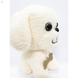 Gấu bông chó lông xù đeo xương đáng yêu HÀNG CHÍNH HÃNG